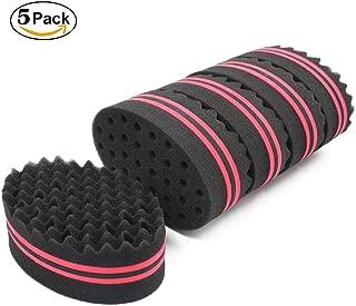 Hair Twist Black Ice Sponge For Afro Braid Dreadlock Coils Curl Brushes (5 PCS)