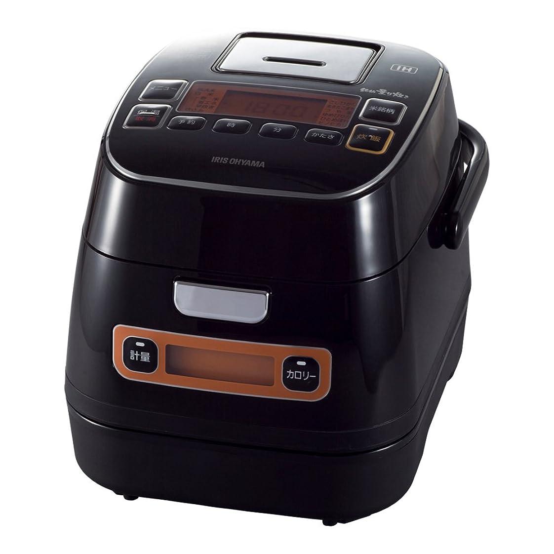 予測子脚薬剤師アイリスオーヤマ 炊飯器 IH 3合 銘柄量り炊き カロリー計算機能付き 米屋の旨み ブラック RC-IA31-B