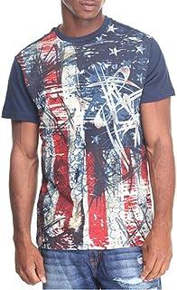 AKADEMIKS Mens A26TE83F Arrow Front Americana T-Shirt T-Shirt