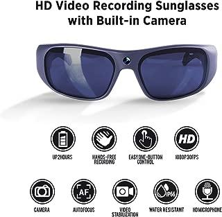 GoVision Apollo 1080p HD Camera Glasses Water Resistant Video Recording Sport Sunglasses - Titanium