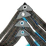Lonas De múltiples Fines Vela de la Sombra Bloque UV 70% Telas de protección Solar Rayas Azules y Blancas Red de sombreado Permeable Aislamiento con Cuerda Libre Toldos de Tela Cubierta