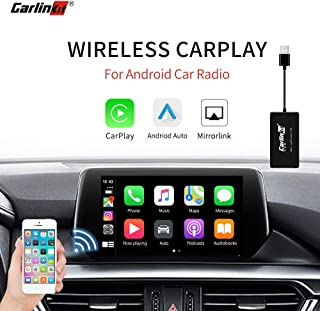 Carlinkit Wireless Carplay Dongle USB Adapter for Car with Android Head Unit Navigation Player, add Function Carplay/Android Auto/Mirror Screen/Support iOS13 Split Screen Multi-Window Bluetooth
