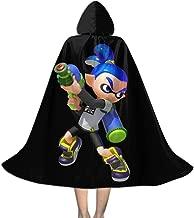 Hey! May Kid Halloween Christmas Party Splatoon 2 Hooded Cloaks Cape Robe for Boy Girl