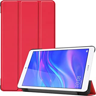 Smart Case for Huawei MediaPad T5 8.0 Inch, Ratesell Lightweight Smart Trifold Stand Microfiber Lining Case Cover Compatib...