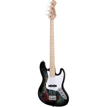 Electric Bass Guitar with Magical Graphic - Jazz Bass Type with Hard Canadian Maple Neck (Magical)