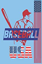 BASEBALL USA BOOK Moon Baseball Road Trips team gift, 110 Pages of 6 x 9 Lined Notebook: Baseball Journal/Notebook, Person...