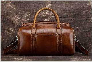 Large Capacity Handmade rub Color Handbag Leather Suede Leather Retro Handbag Messenger Handbag Shoulder Handbag Sturdy (Color : Coffee)