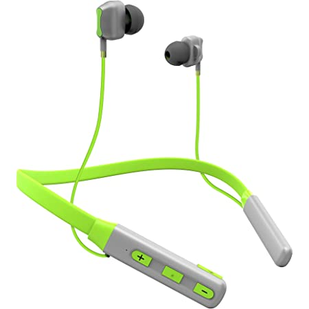 TAGG Impulse Wireless Bluetooth in Ear Neckband Headset with Mic (Black Green)