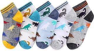 Boys Cotton Socks 5/10 Pack Low Cut Ankle Dinosaur Mesh 2-9Y Thin Light Weight Back School
