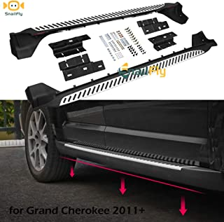 SnailAuto Fit for 2011-2019 2020 Jeep Grand Cherokee Running Boards Side Steps Stripe Texture