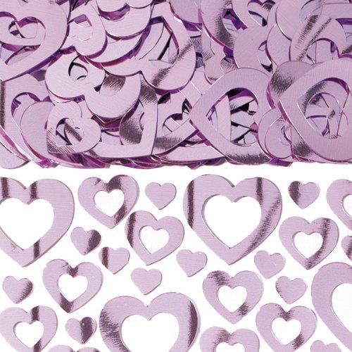 amscan International Cœur Shimmer Prismatic Mélange métallique Confetti, Rose
