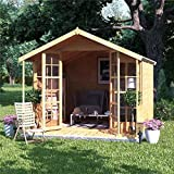 BillyOh Lily Tongue and Groove Apex Summerhouse | Included Floor and Roof - 2 Sizes (10x8)
