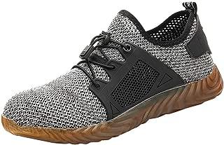 Men Women Unisex Steel Toe Shoes Non Slip Breathable Puncture Proof Composite Toe Mesh Work Shoes by Lowprofile