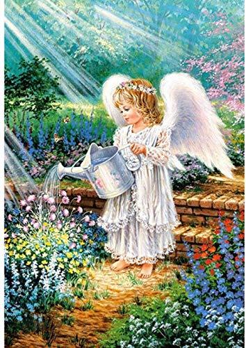 Kit de punto de cruz para niños principiantes-angel girl-cuadros de bordado de bricolaje kits de punto de cruz-bordado de punto de cruz bordado-decoración del hogar 40X50CM (11CT lienzo preimpres