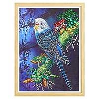 5DDIYダイヤモンド絵画オウム特別な形のフルラウンドダイヤモンド刺繡販売ラインストーンの動物モザイク画像40 * 50cm