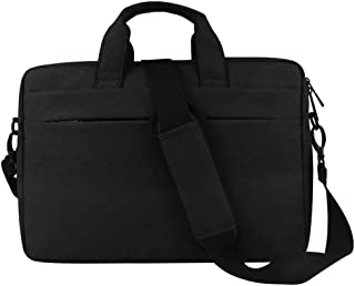 Djyyh Laptop Crossbody Briefcase Messenger Tote Bag Casual Handbag for Notebook Computer Tablet Leather Men's Business Briefcase (Color : Black, Size : 14inch)