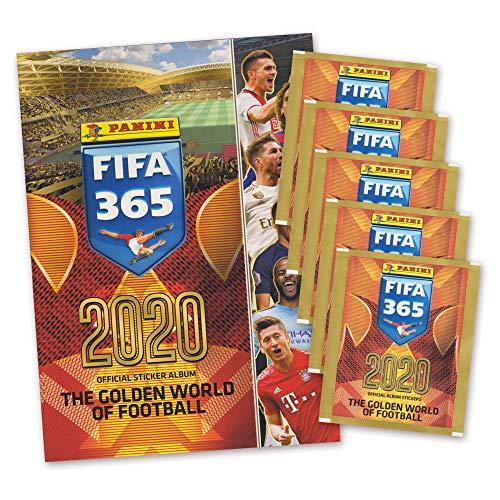 FIFA 365 Sticker Edition 2020 The Golden World of Football - Album + 5 Booster Tütchen - deutsch