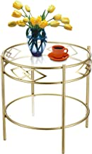 2-Tier Sofa Side Round Table End Table Couch Tray Table Living Room Furniture
