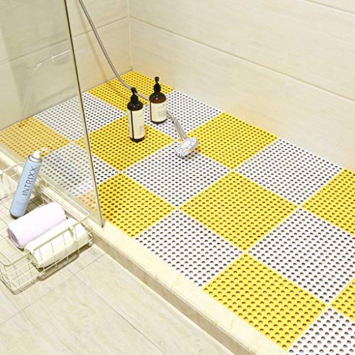 Best Buy! Bath mats antiscivolo Absorbent Floor Mat Stitching Shower Room Bathing Water Hollow Plast...