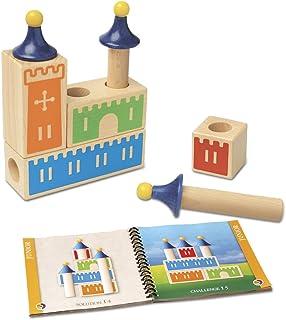 Smart Games - Castle Logix, Juego de ingenio de Madera con retos progresivos (SG010)