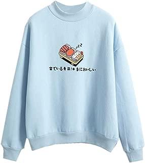 Dorathy Harajuku Pastel Sweater Japanese Sushi Cartoon Tumblr Shirts Teen Girl