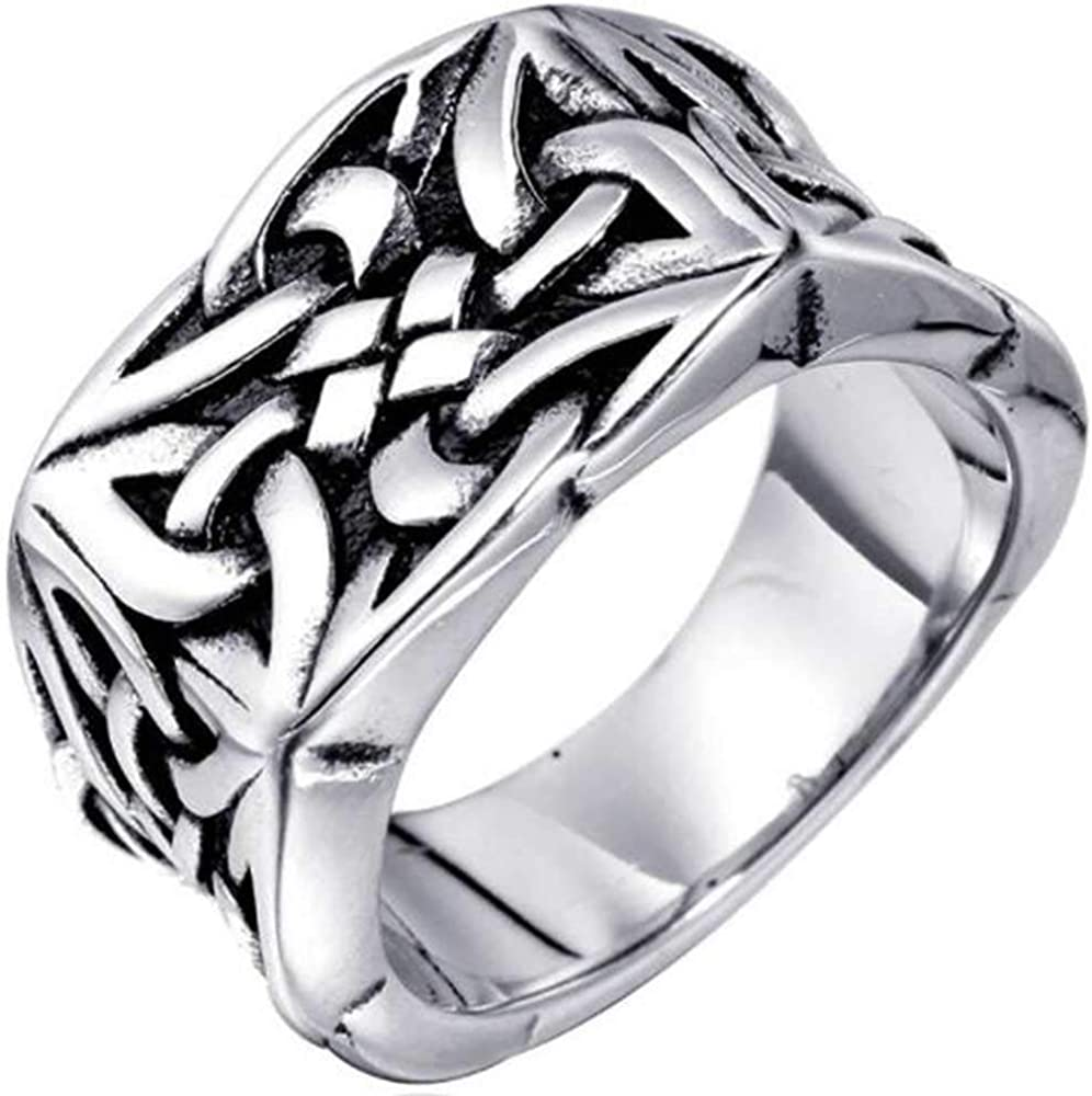 Stainless Steel Celtic Knot Signet Statement In New popularity stock Anniversary B Style