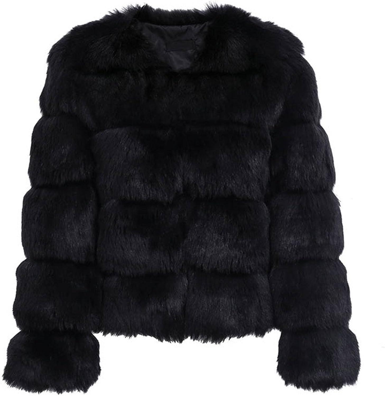 Fluffy Faux Fur Coat Women Short Furry Fake Fur Winter Outerwear Pink Coat