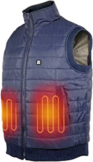 ARRIS 電熱ホットベスト 防寒加熱服 ダウンベスト USB 電熱ヒーター付 温度調整可能 冬の暖かいチョッキ 登山 釣り バイクウエア 男女兼用