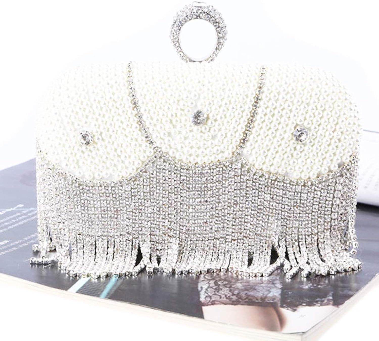 Klerokoh Frauen kuppelt Mode Quasten Clutch Abendtaschen Abendtaschen Abendtaschen Clutch Geldbörse (Farbe   Silber) B07QCXCSBC  Schöne Kunst 7b56fe