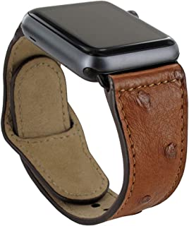 Piel Frama Armband Case for Apple Watch 42 mm - Ostrich Black
