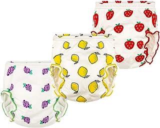 Morbuy-shop, Pantalones de Entrenamiento para Bebé, Morbuy Reusable Calzones de Entrenamiento Ropa Interior de Entrenamiento Bragas de Aprendizaje para Niño Niña, 6-30 Meses, 3 Piezas