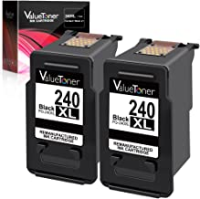 Valuetoner Remanufactured Ink Cartridge Replacement for Canon PG-240XL 240 XL to use with Pixma MG3620 MX532 MG2120 MG2220 MG3120 MG3122 MG3220 MG3222 MX432 MG3520 MX452 MX512 High Yield (2 Black)