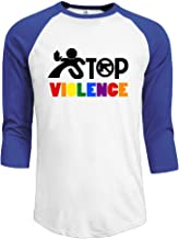 Men's Orlando PuLse Night Club Appeal Stop The Violence 3/4 Sleeve Raglan T-Shirt