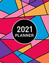 2021 Planner: Weekly and Monthly Agenda Calendar Organizer | Jan 1, 2021 to Dec 31, 2021 | Colorful Stained Glass Window