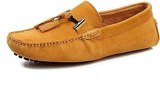 HuiHang Hommes Daim Loafers Chaussures de Conduite Mocassin Slippers Affaires Bureau Travail Confort Mocassins Mode Casual...