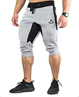 Men's 3/4 Training Pant Cotton Sweatpants Jogger Pants Tapered Joggers