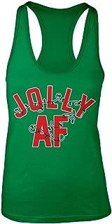 Women's Jolly AF Christmas Racerback Tank Top