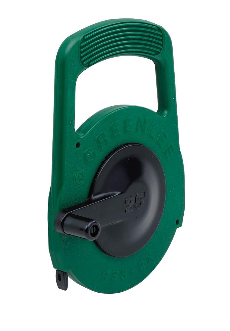 相対サイズ要求不利Greenlee 438-2X スチール製平型呼び線 7.6m