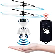 PALA PERRA Flying Toy Mini RC Helicopter, Rechargeable Infrared Induction Flying Drone Indoor Games Toys, Remote Control Helicopter for Boys & Girls (Robot 2.0)