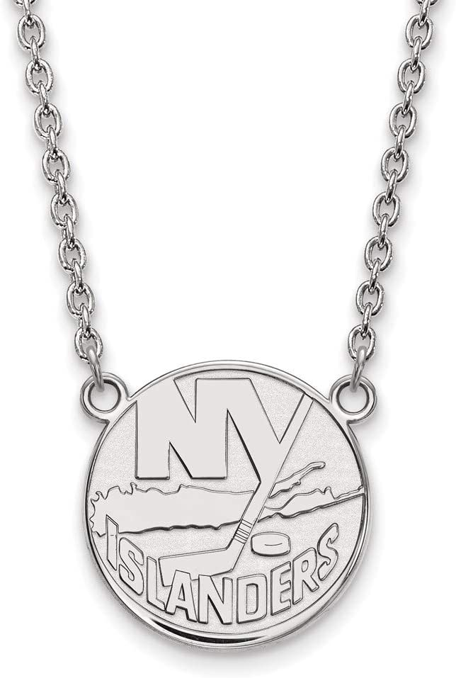 New Factory outlet York Islanders Large 3 Los Angeles Mall 4 Necklace w Pendant Inch Sterlin
