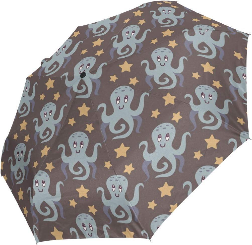 AHOMY Los Angeles Mall Windproof Travel Umbrella Octopus Ranking TOP1 Folding Compact Umb Star