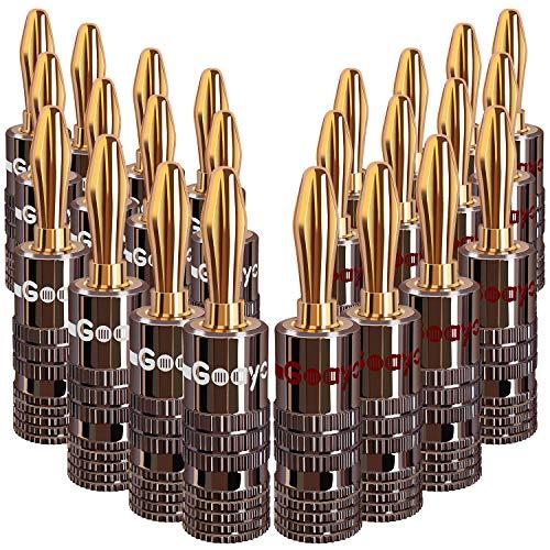 Bananenstecker Lautsprecher 12 Paar für Lautsprecher Kabel von 0,5mm² bis 3.5mm²