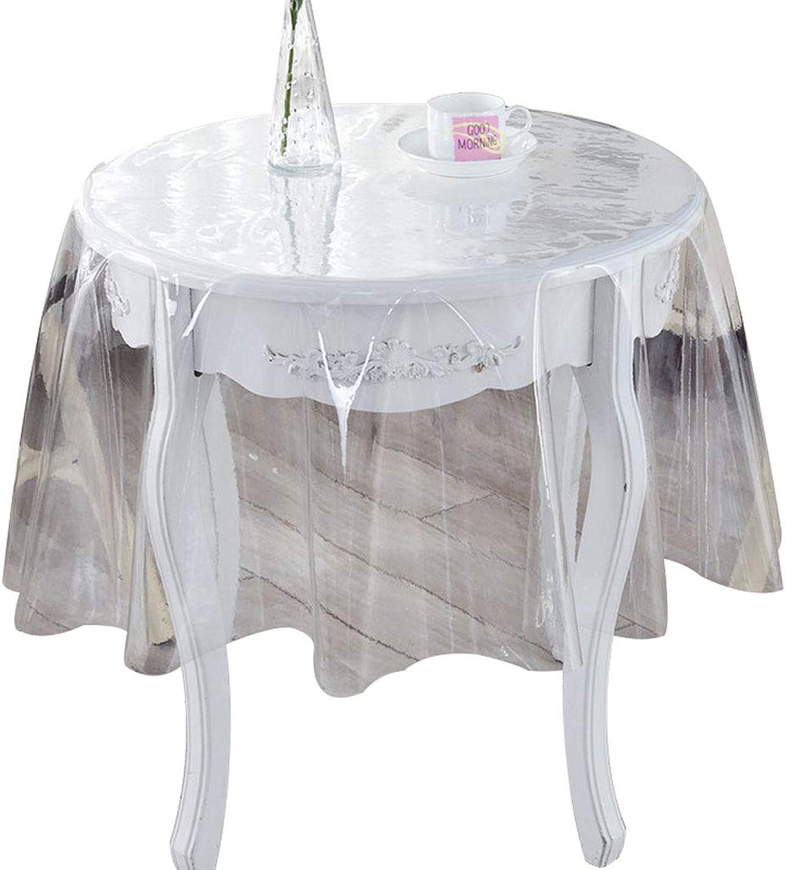 LLH Runde Tischdecke, weichem Kunststoff herabhängende transparente Tischdecke wasserdicht Öl Einweg Kristallplatte Couchtischdecke PVC-Kunststoff Tischdecke ZHUOB ( Farbe   0.25mm , größe   190cm ) B07K55MBBQ Spielzeugwelt, glücklich