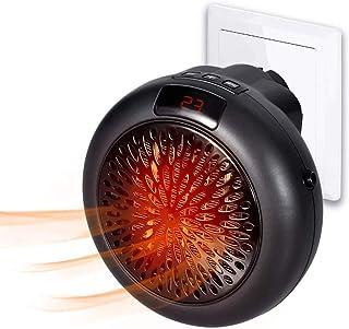 LQ&XL Calefactor Cerámico de Enchufe Portátil con El Termóstato Ajustable,Apagado Automático,Bajo Consumo para El Hogar/La Oficina(Negro),Negro