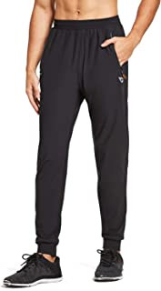 Baleaf Men's Cool Running Pants Quick Dry Jogger Zipper Pockets Tapered Leg Training Pants