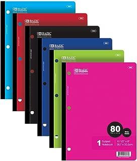BAZIC W/R 80 Ct. 1-Subject Wireless Notebook (Case of 24)