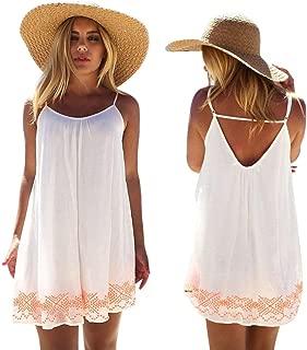 FAPIZI ♥ Women Dress ♥ Women Backless Short Summer Beach Mini Dress Sundress
