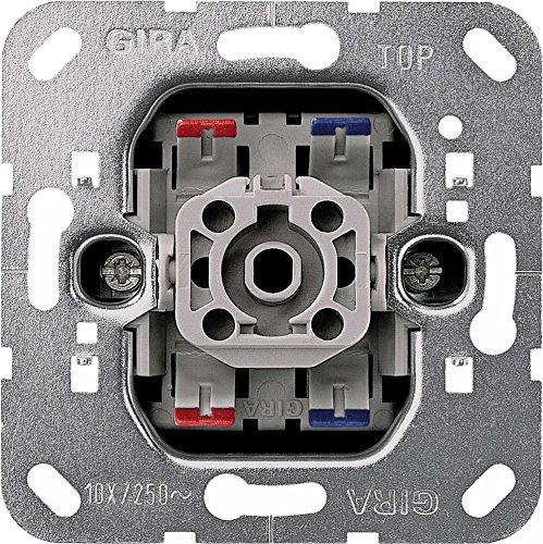 Gira 010200 Wippschalter aus 2 polig Einsatz, Metallisch
