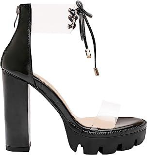 98e6c64c953 Amazon.com: Transparent heels for women - Last 30 days / Shoes ...