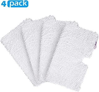 4 Pack Microfiber Steam Pocket Mop Pads Compatible for Shark Rectangle Mop Head S3500 Series ,S3501 ,S3601 ,S3550 ,S3901 ,...